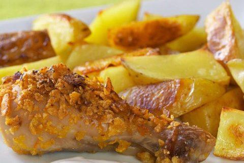 Куриные голени с картошкой