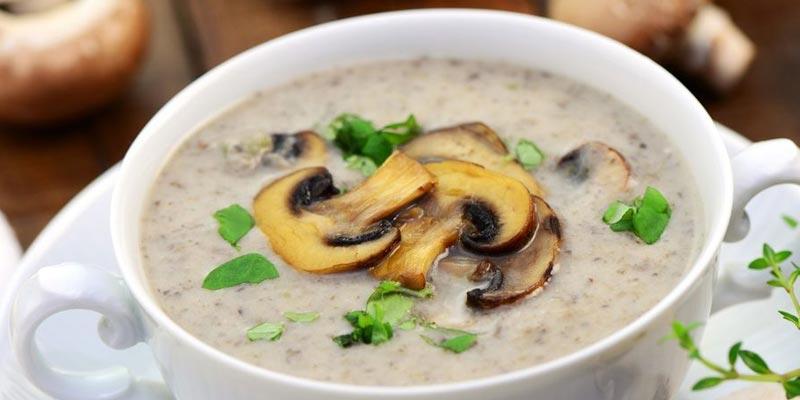 Суп-пюре из шампиньонов в мультиварке
