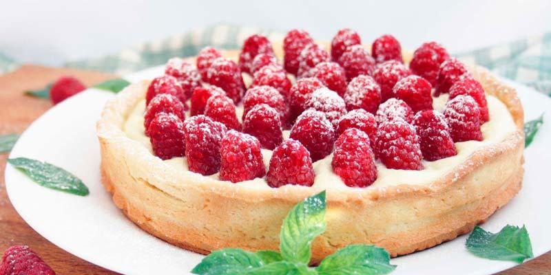 Пирог с малиной в мультиварке фото